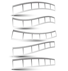 Black and white film strips film tapes vector