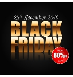 Black Friday 3 vector image