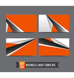 Business Card template set 024 Orange abstract vector image