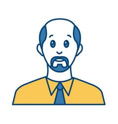 businessman avatar cartoon vector image