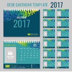 Calendar template for 2017 year vector