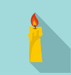 Candle icon flat style vector