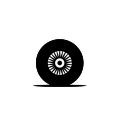 car tire logo vector image