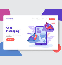 chat messaging vector image