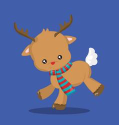 Christmas dear run 03 vector