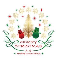 christmas emblem vector image