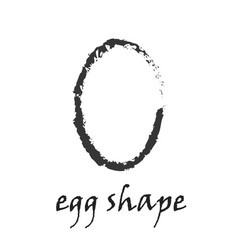 creative food image with whole egg in grunge style vector image