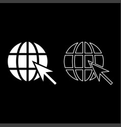 earth ball and arrow global web internet concept vector image