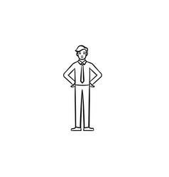 employee hand drawn sketch icon vector image