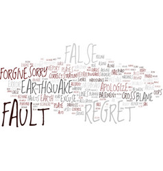 fault word cloud concept vector image