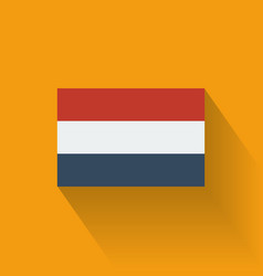 Flat flag netherlands vector