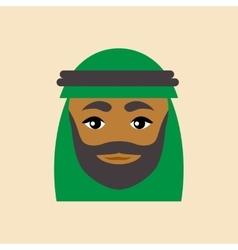 flat icon on white background Arab men vector image