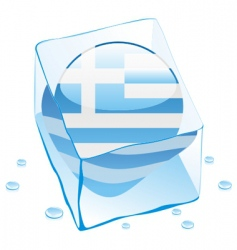 frozen button flag of greece vector image vector image