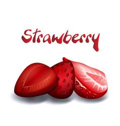 fruit strawberry white background image vector image