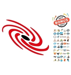 Galactic Icon with 2017 Year Bonus Symbols vector