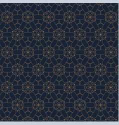 geometric contour pattern on blue background vector image