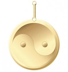 Golden amulet vector