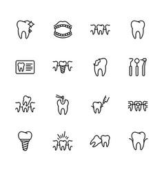 health teeth dental treatment stomatology vector image