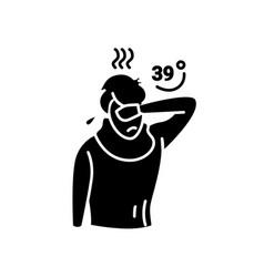 High temperature glyph icon vector