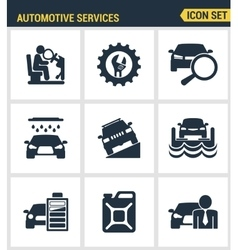 Icons set premium quality of automotive services vector