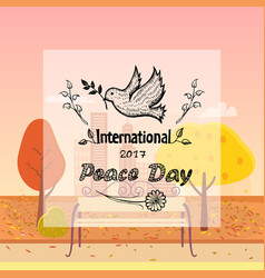 International peace day autumn background vector