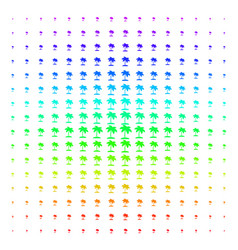 island tropic palm shape halftone spectral pattern vector image
