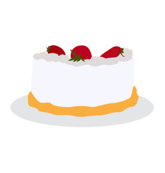 isolated sweet cake vector image