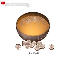 Kava Drink or Traditional Tongan Herbal Beverage vector