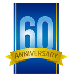 label for 60th anniversary vector image