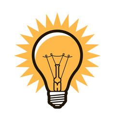 Light bulb symbol electricity innovation idea vector