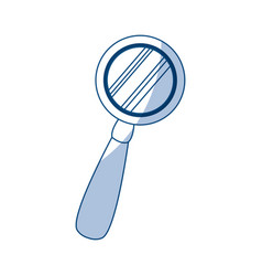 Magnifying glass magnifier or loupe icon vector