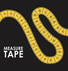 Measure tape design vector