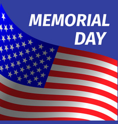 Memorial day design with flag vector