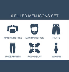 Men icons vector