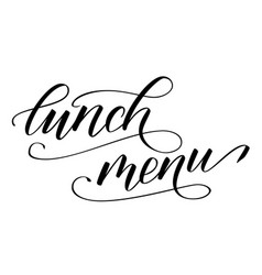 Modern brush calligraphy lunch menu vector
