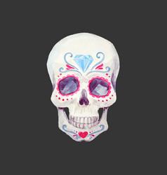 Nice watercolor skull vector