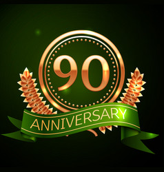 ninety years anniversary celebration design vector image
