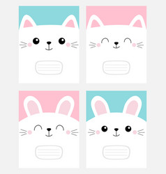 Notebook cover composition book template pet baby vector