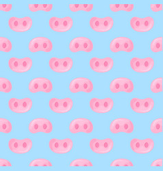 Pig snouts seamless pattern for wrapping gifts for vector