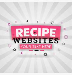 Pink logo for recipe websites for recipe websites vector