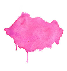 pink watercolor stain abstract texture background vector image