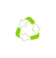 recycling ecology thin line icon vector image