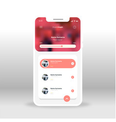 red magic music ui ux gui screen for mobile apps vector image