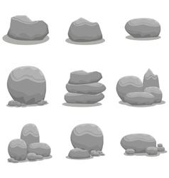 Rock stone set element art vector