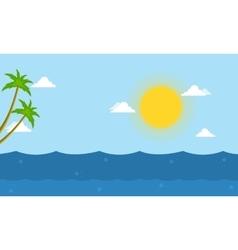 Sea beautiful landscape cartoon vector image