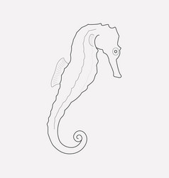seahorse icon line element of vector image