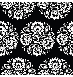 Seamless traditional floral Polish folk art patter vector