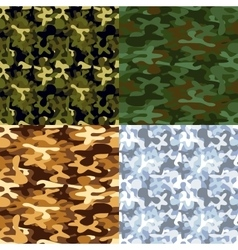 set military camouflage seamless patterns vector image