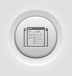 Set up ads icon flat design vector