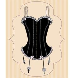 Sexy vintage corset vector